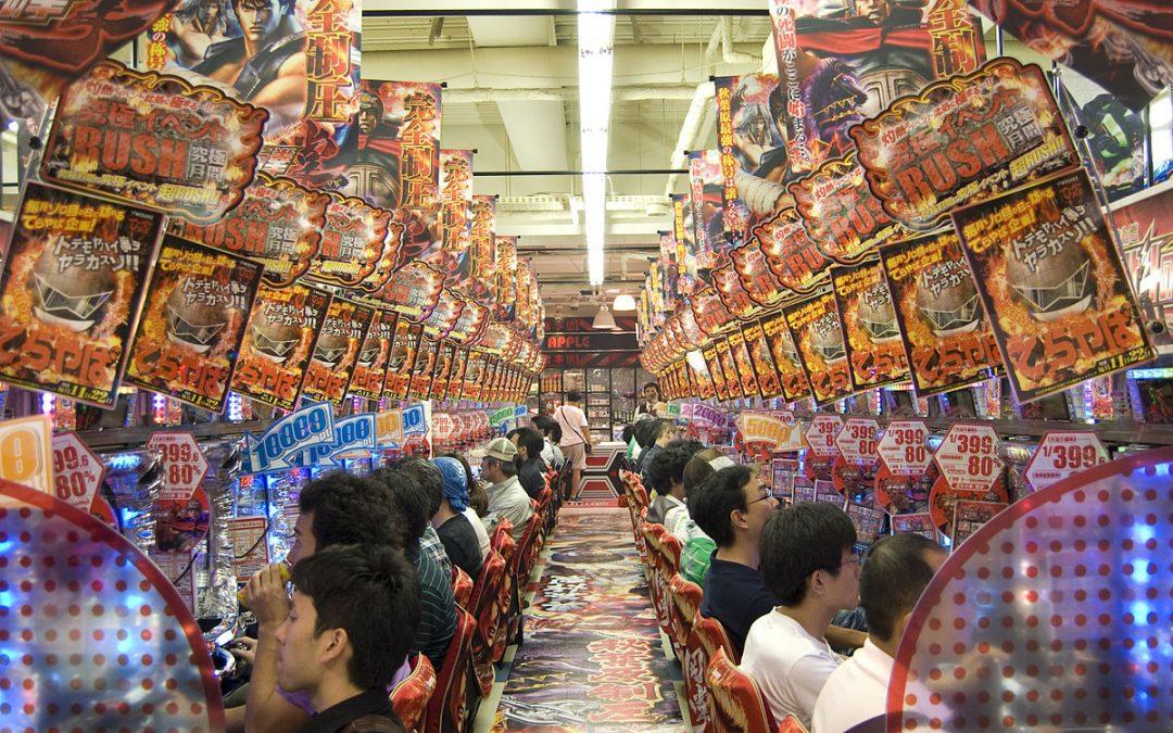 日本のパチンコゲームのクレイジーな世界の中